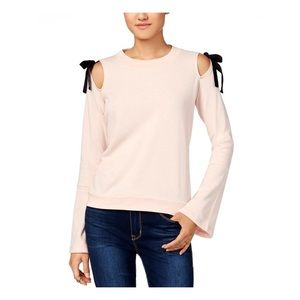 Large Blush Almost Famous Cold Shoulder Tunic